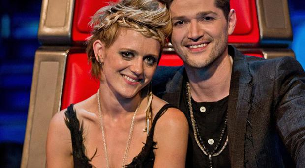 The Voice finalist Bo Bruce with coach Danny O'Donoghue (Guy Levy/ BBC/PA)