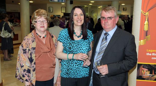 Press Eye - Belfast - Northern Ireland - Picture by Kelvin Boyes / Press Eye.Lisburn City Council, Mayor's Awards for Volunteering: Lorna Collins, Sharon Bentham and Richard Middleton