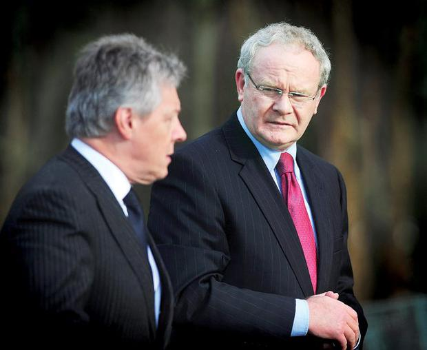 What a stitch-up: Peter Robinson and Martin McGuinness's cross-party dealings have left David Ford angry and out in the cold