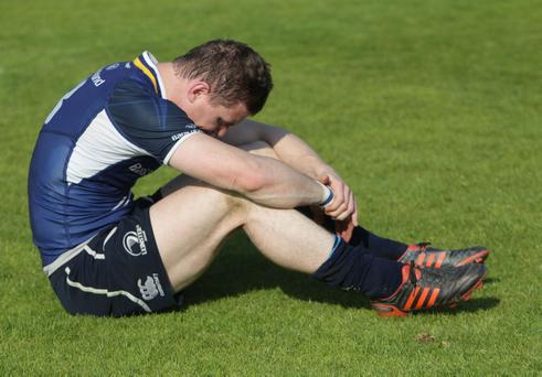 Leinster's Brian O'Driscoll dejected after defeat following the RaboDirect PRO12 Final at the RDS, Dublin