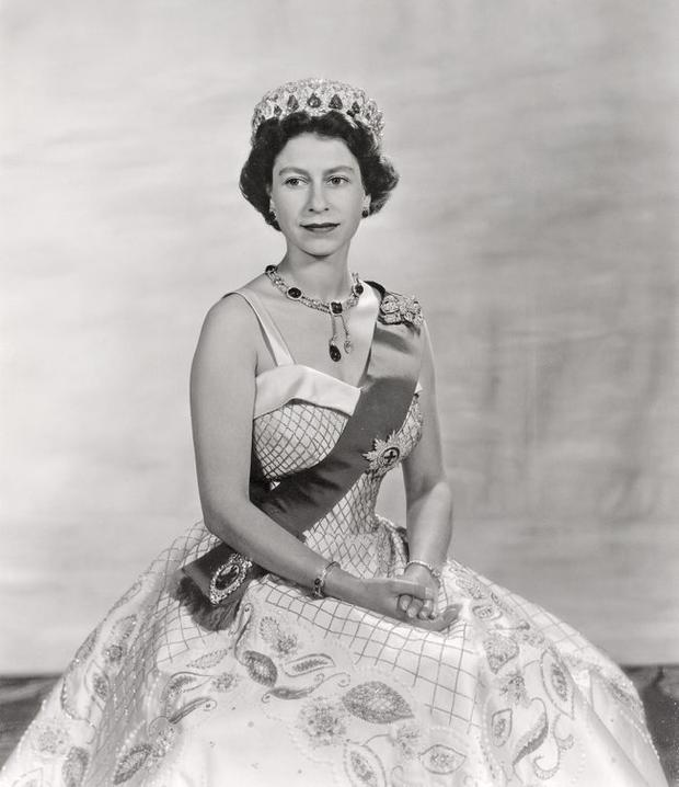 Regal look: The Queen at the start of her reign