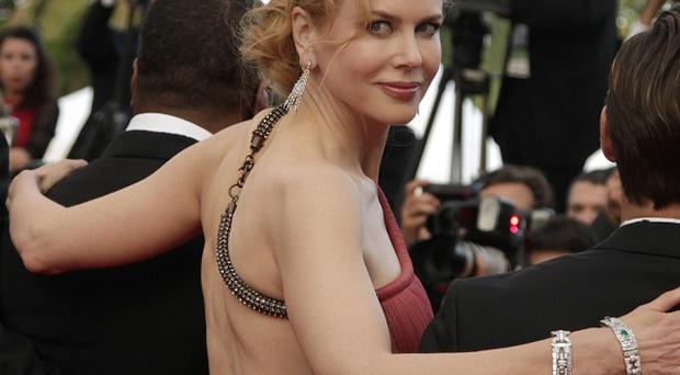 Nicole Kidman wore a rose-pink gown to The Paperboy premiere