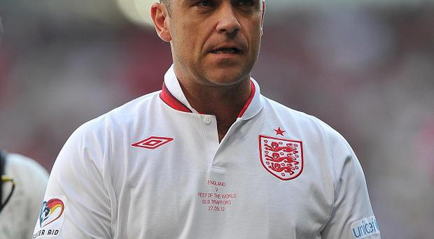 Robbie Williams led his England team to victory during the Soccer Aid match