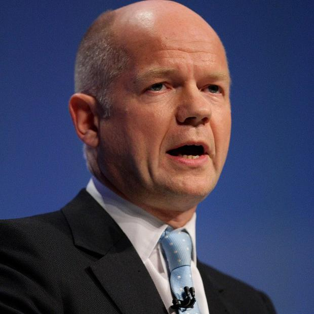 William Hague has repeated his demand for Bashar al Assad to hand over power