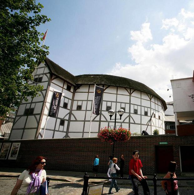 A man was arrested following a protest at London's Globe Theatre