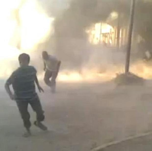 Video grab provided by Syrian activists purporting to show the massacre in Houla on May 25 (AP)