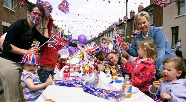 Party royal: Street celebrations in south Belfast