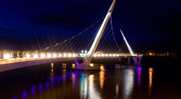 The peace bridge in Derry is a sign of the city's regeneration