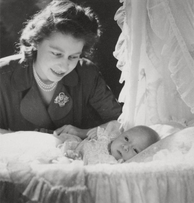 Princess Elizabeth with her first child, Prince Charles in December 1948, by Cecil Beaton