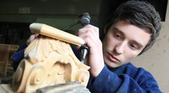 Michael McCormick , Apprentice Joiner at Richmond, based in Bangor.