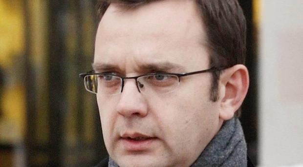 File photo dated 10/12/2010 of Andy Coulson leaves the High Court in Glasgow after giving evidence in the trial of former MSP Tommy Sheridan. David Cameron's former communications chief has been arrested on suspicion of committing perjury during the Sheridan trial at the High Court in Glasgow, the Crown Office said today. PRESS ASSOCIATION Photo. Issue date: Wednesday May 30, 2012. See PA story POLICE Coulson. Photo credit should read: Danny Lawson/PA Wire