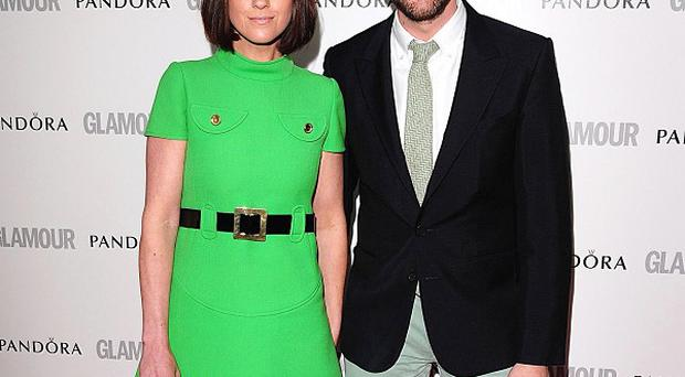 Chris O'Dowd and his fiancee Dawn Porter at the Glamour bash