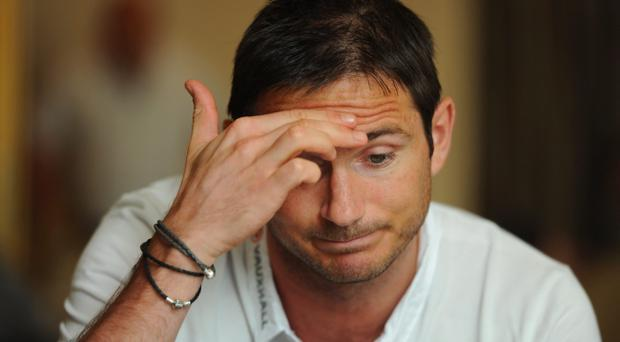 Frank Lampard looks unlikely to play for England at Euro 2012 after picking up an injury while training