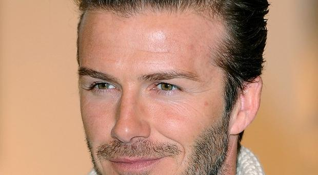 David Beckham has been enjoying pie and mash
