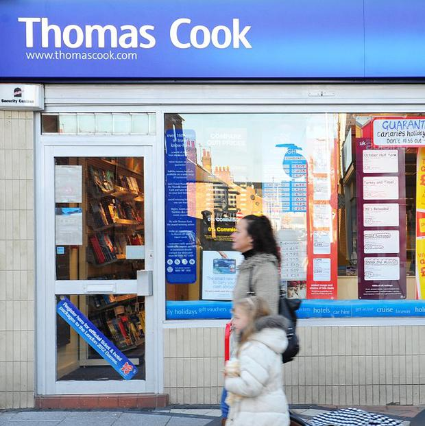Troubled travel firm Thomas Cook said efforts to stabilise the business were bearing fruit