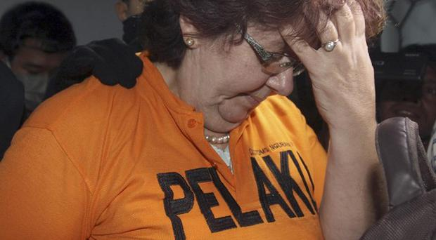 Lindsay Sandiford was allegedly caught with cocaine stuffed in the lining of a suitcase in Bali (AP)