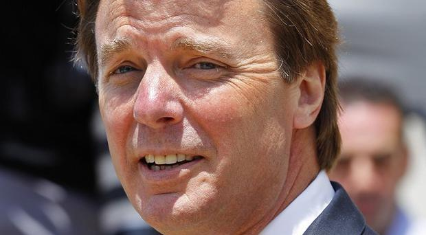 John Edwards outside the federal courthouse in Greensboro, North Carolina (AP)