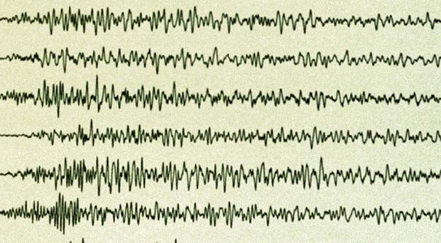 An earthquake centred on Ludlow measured over two on the Richter Scale