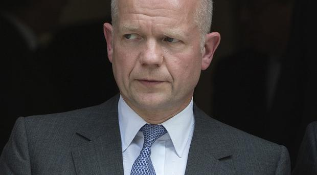 Foreign Secretary William Hague warned Syria could collapse into a sectarian civil war