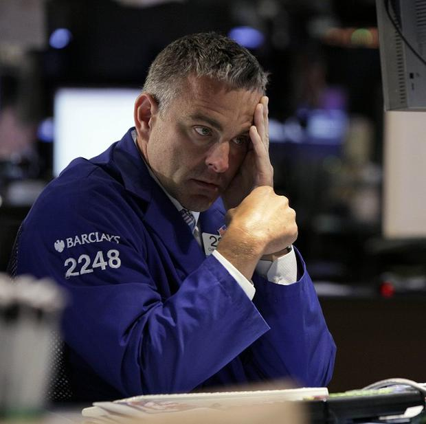 The Dow Jones industrial average closed down 274 points at 12,118