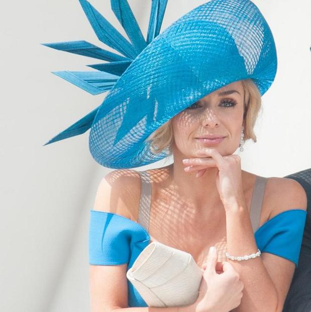 Singer Katherine Jenkins sang for the Queen at the Epsom Derby as part of the Diamond Jubilee celebrations
