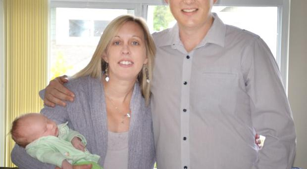 A COUPLE from Northern Ireland who emigrated to Vancouver Canada in 2004 are celebrating the birth of their first child together. Laura Holland (33) from Newtownards, Co Down and Robert Holland (39) from Newtownabbey, Co Antrim, welcomed Callum Matthew Robert Holland into the world at 3.04pm on May 12, weighing 8lb 3oz. Laura's parents, Muriel and Lee Robinson, were at her side during the birth of their first grandson at Peace Arch Hospital, White Rock.