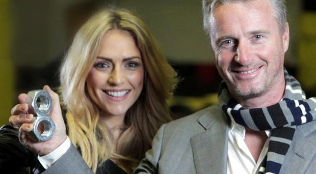 Ex-Formula One star Eddie Irvine and model Jenny Curran highlight the start of the Action Man campaign