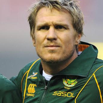 Jean de Villiers will captain South Africa against England