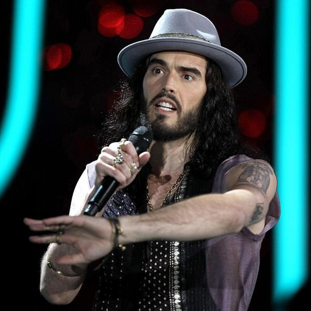 Russell Brand hosted the MTV Movie Awards in Los Angeles (AP)