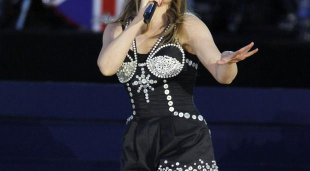Kylie Minogue performed at the Queen's Jubilee Concert in front of Buckingham Palace