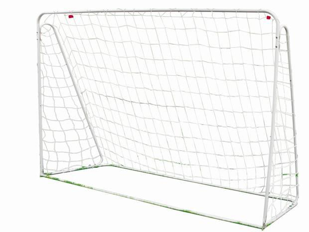 <b>1. Argos Football Goal</b> £19.99, argos.co.uk This 7ft x 5ft, no-nonsense, affordable metal football goal is perfect for practice at home. It includes a three-ply white net and ground pegs for added stability.