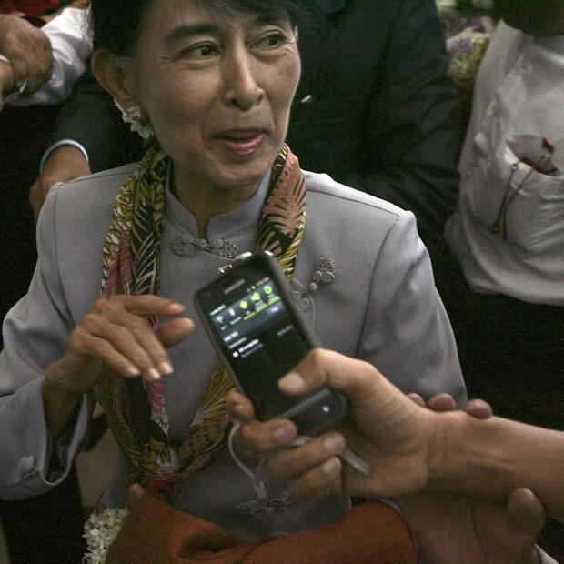 Burma opposition leader Aung San Suu Kyi is taking her first European trip since 1988 (AP)
