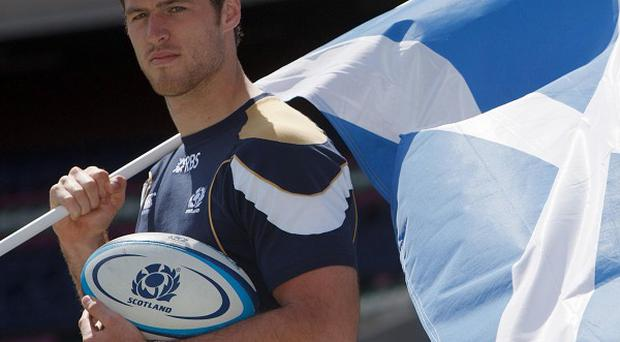 Tim Visser is excited about making his Scotland debut at the weekend