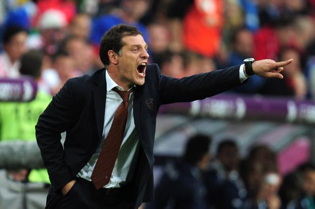 POZNAN, POLAND - JUNE 14: Head Coach Slaven Bilic of Croatia directs his team during the UEFA EURO 2012 group C match between Italy and Croatia at The Municipal Stadium on June 14, 2012 in Poznan, Poland. (Photo by Jamie McDonald/Getty Images)