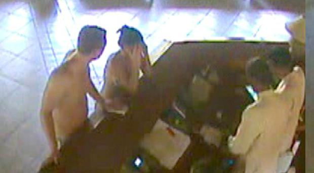 CCTV footage allegedly showing Michaela Harte and John McAreavey arguing
