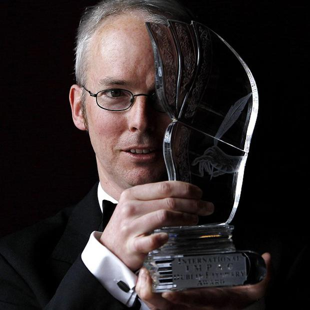 Jon McGregor celebrates winning the International Impac Dublin Literary Award 2012 with his novel Even The Dogs