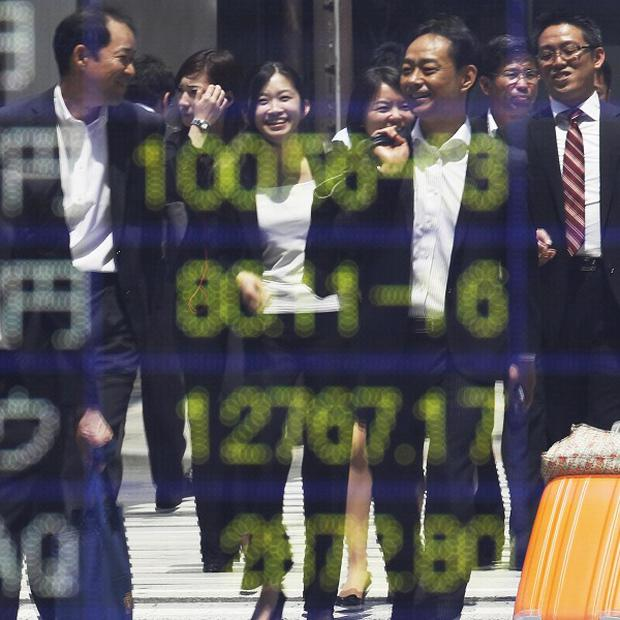 Tokyo's benchmark Nikkei 225 index was up nearly two percent at 8,729 (AP)