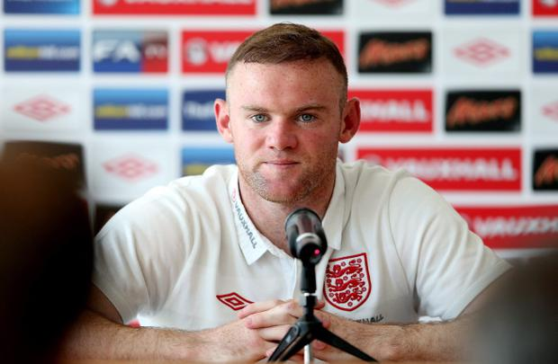 KRAKOW, POLAND - JUNE 17: Wayne Rooney during an England press conference during the UEFA Euro 2012 on June 17, 2012 in Krakow, Poland. (Photo by Scott Heavey/Getty Images)
