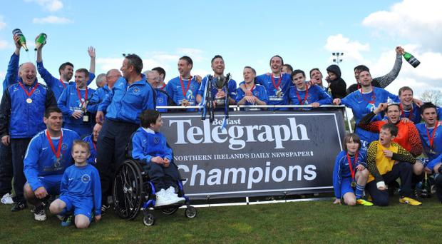 Ballinamallard United enjoy their Belfast Telegraph Championship 1 success, now they will look forward to a Premiership debut