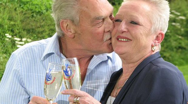 Robin and Lesley Palmer, from Leeds, who won more than two million pounds on the lottery