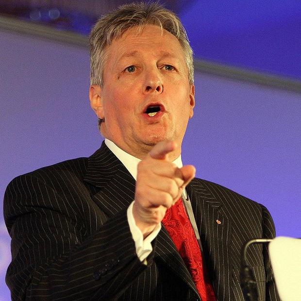 First Minister Peter Robinson