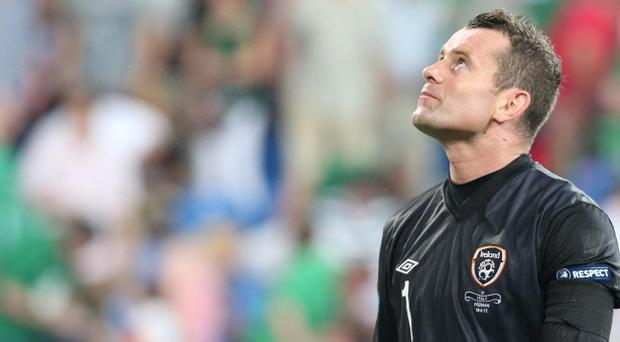 Republic of Ireland's Shay Given during the UEFA Euro 2012 Group match against Italy at the Municipal Stadium, Poznan, Poland