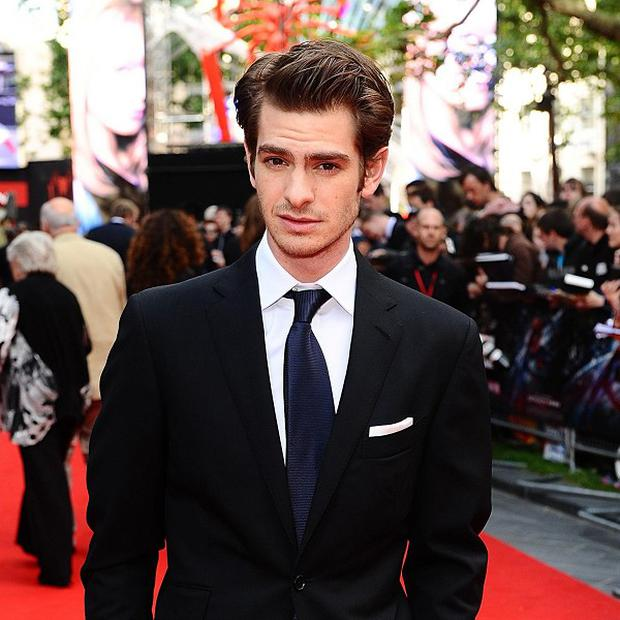 Andrew Garfield arriving for the premiere of The Amazing Spider-Man