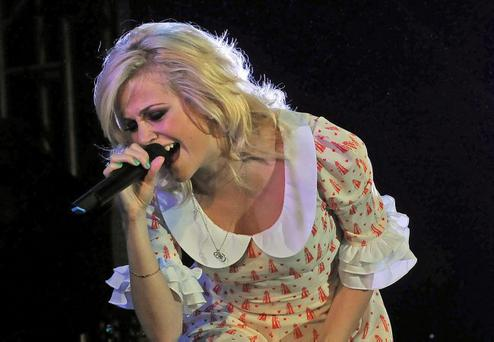 Pixie Lott during the Peace One Day concert at Ebrington Square in Derry~Londonderry.