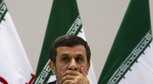 Iran's President Mahmoud Ahmadinejad said his country is not pursuing nuclear weapons (AP/Victor R Caivano)