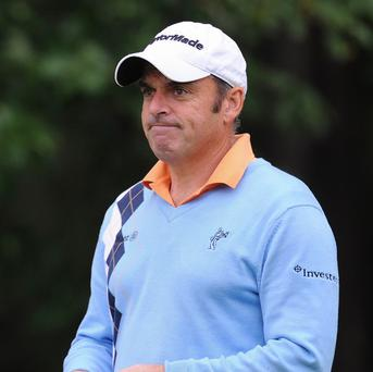 Paul McGinley has overcome a knee problem and is playing well at the BMW International Open