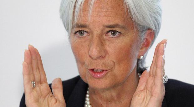 Christine Lagarde warned that the euro is under 'acute stress'