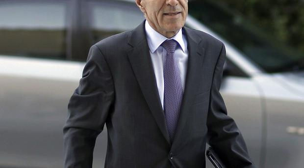 Newly appointed Greek Finance Minister Vasilis Rapanos has been taken to hospital(AP)