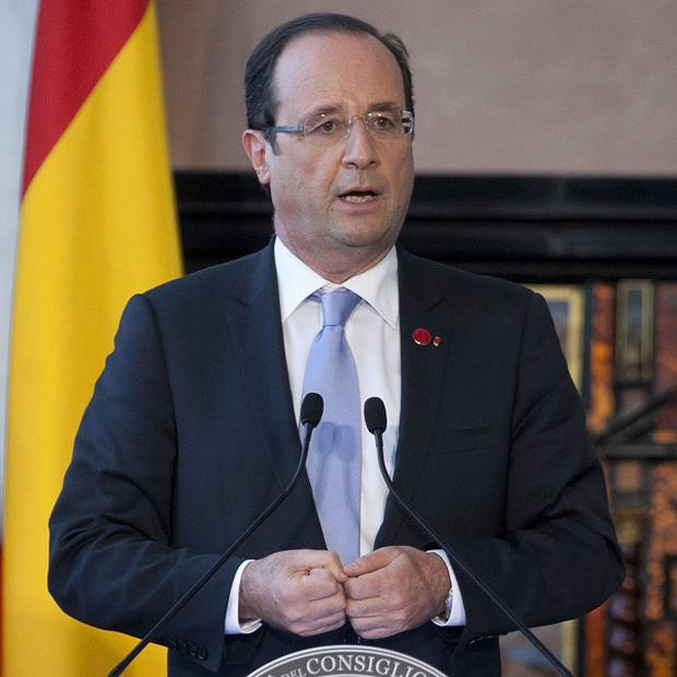 French President Francois Hollande speaking after the summit(AP)