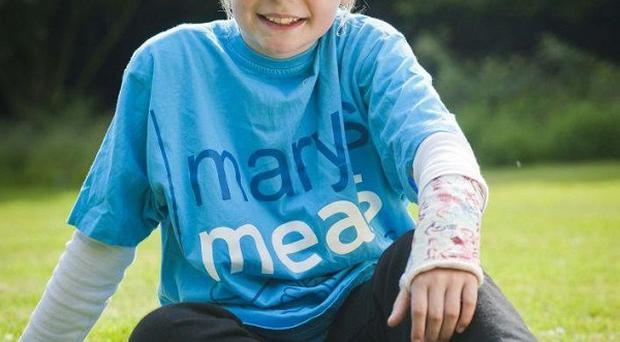 Martha Payne, who was banned by her council from blogging about her school meals (Chris Watt/Mary's Meals/PA)